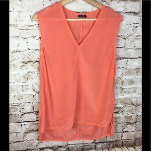 Kate Spade Saturday   coral silk blouse, medium